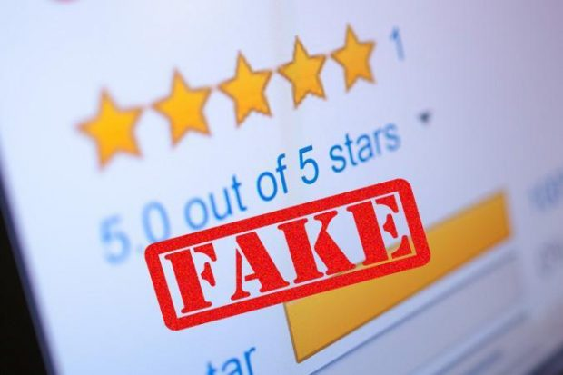 How to deal with a fake online review?